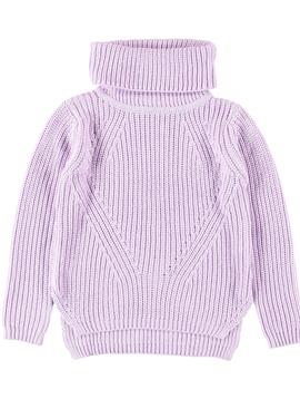 molo Lilac Chunky Knit Sweater - Molo Kids Clothing