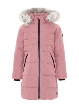 molo Hazeline Long Pink Coat - Molo Outerwear