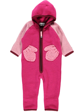molo Udo Baby Fleece Romper - Disco Pink - Molo
