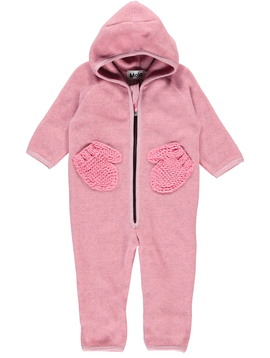 molo Udo Baby Fleece - Bubble Pink - Molo