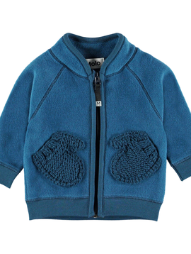 molo Ulf Fleece Jacket - Ocean Blue - Molo