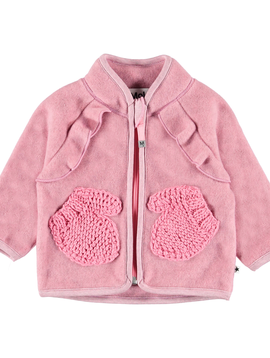 molo Uli Fleece Jacket - Bubble Pink - Molo