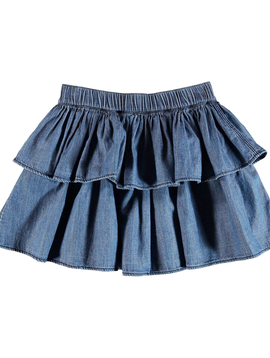 molo Brooke Ruffle Denim Skirt - Molo Kids