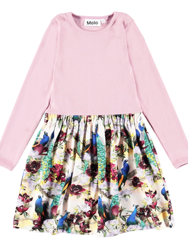 molo Crendence Dress - Peacocks - Molo Kids Clothing
