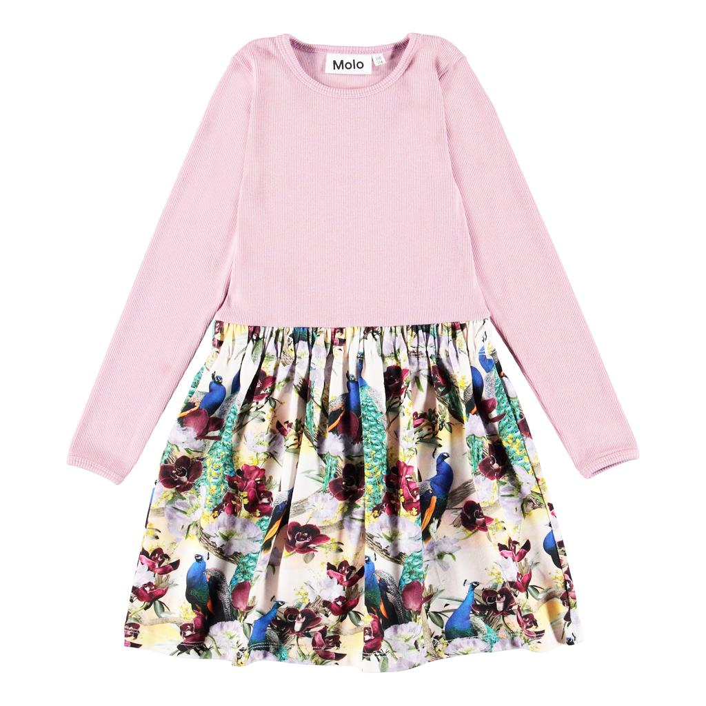 molo Crendence Dress - Peacocks - Molo Kids Clothing