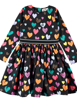 molo Christin Colorful Hearts Dress  - Molo Kids