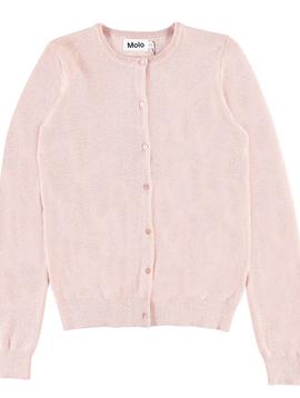 molo Georgina Shimmer Cardigan - Powder Pink - Molo