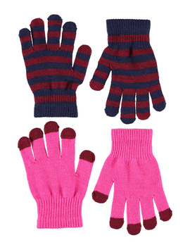 molo Molo Kids Gloves - Keio Pink