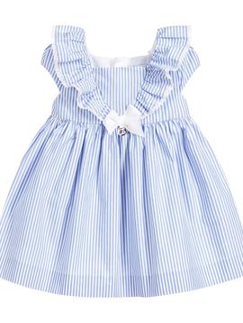 Mayoral Baby Ruffle Pinstripe Dress - Mayoral
