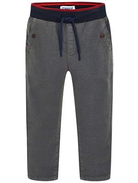 Mayoral Grey Cotton Jogger Pants - Mayoral