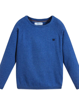 Mayoral Blue Cotton Knit Sweater - Mayoral