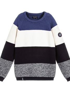 Mayoral Stripe Cotton Knit Sweater - Nukutavake