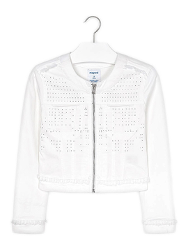 Mayoral White Denim Zip Jacket - Mayoral