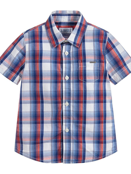 Mayoral Plaid Check Button-down Shirt - Mayoral
