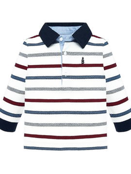 Mayoral Baby Stripe Polo Shirt - Mayoral