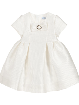 Mayoral Baby Ivory Jacquard Dress - Mayoral