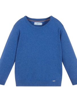Mayoral Blue Cotton Sweater - Mayoral