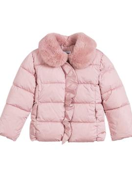 Mayoral Pink Ruffle Puffer Jacket - Mayoral