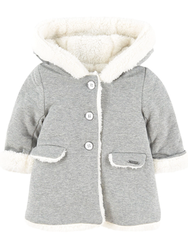 Mayoral Baby Girl Grey Sweater Coat - Mayoral