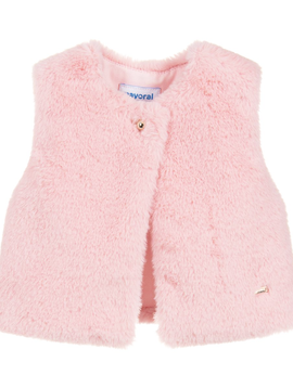 Mayoral Pink Faux Fur Vest - Mayoral