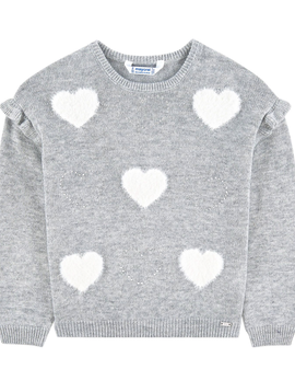 Mayoral Knit Sweater w Hearts - Mayoral
