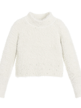 Mayoral White Sweater w Pearls - Mayoral