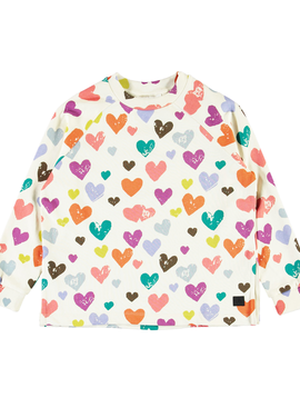 molo Rainbow Hearts Sweatshirt - Molo Kids - Mary