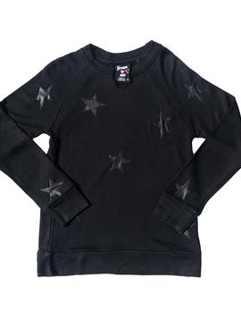 Flowers by Zoe Stars Black Sweatshirt - Flowers By Zoe