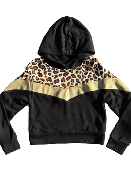 Flowers by Zoe Leopard Hoodie Sweatshirt - Flowers By Zoe