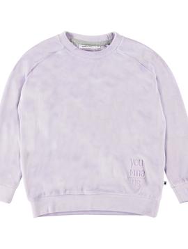 molo Lilac Velour Sweatshirt - Molo Kids
