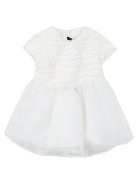 Lili Gaufrette White Faux Fur Dress - Lili Gaufrette