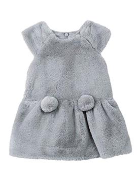 Lili Gaufrette Grey Faux Fur Dress - Lili Gaufrette