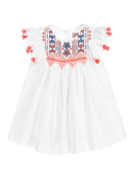 Lili Gaufrette Neon Embroidered Tassel Dress - Lili Gaufrette