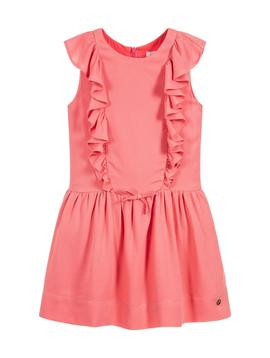 Lili Gaufrette Coral Ruffle Dress - Lili Gaufrette
