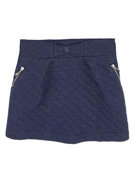 Lili Gaufrette Navy Quilted Skirt - Lili Gaufrette