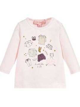 Lili Gaufrette Baby Girl Pink Top - Lili Gaufrette