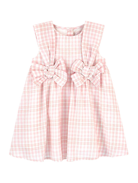 Lili Gaufrette Pink Gold Bow Dress - Lili Gaufrette