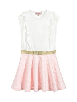 Lili Gaufrette Pink Hearts Dress - Lili Gaufrette