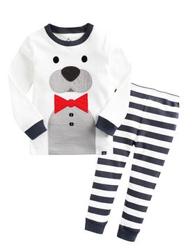 Sugar Bear Kids Pajamas - Bear with Tie