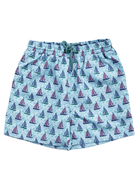 Leo & Zachary Leo and Zachary - Swim Trunks - Boat Print