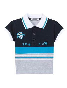 3pommes Clothing Baby Stripe Polo Shirt - 3pommes
