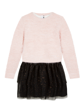 3pommes Clothing Shimmer Tulle Dress w Sweater - 3Pommes