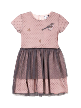 3pommes Clothing Pink Dress w Grey Tulle - 3pommes