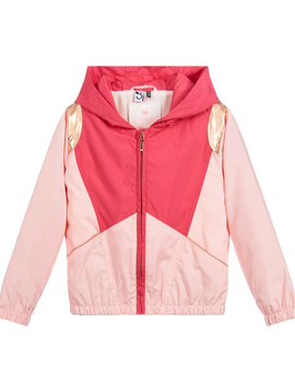 3pommes Clothing Pink Jacket w Rose Gold - 3Pommes