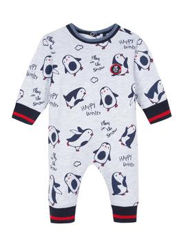 3pommes Clothing Penguin Print Romper - 3Pommes