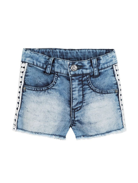 3pommes Clothing Denim Lace Shorts - 3pommes