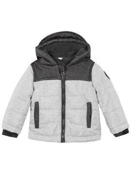 3pommes Clothing Grey Puffer Jacket - 3Pommes