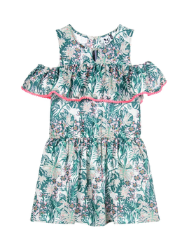 3pommes Clothing Floral Ruffle Dress - 3pommes