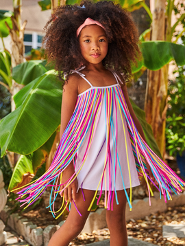 Little Peixoto Little Peixoto - Fringy Dress - Rainbow Fringe