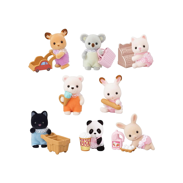 Calico Critters Baby Shopping Series - Pumpkin and Bean